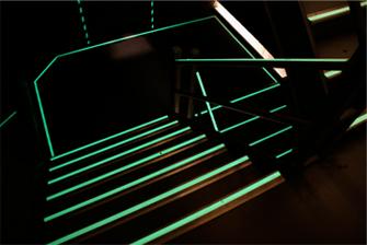Photoluminescent egress stairway markers